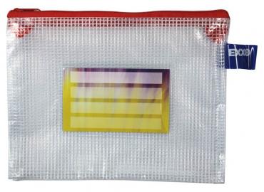 Kleinkrambeutel Zipp Beutel A6 Mit Visitenkartentasche Zipper Rot 5 Stück