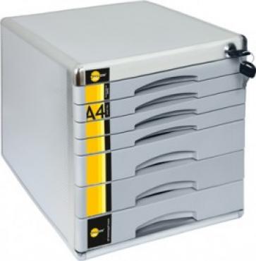 Schubladenbox mit 5 Schubladen mit Schloss zum Abschlie/ßen