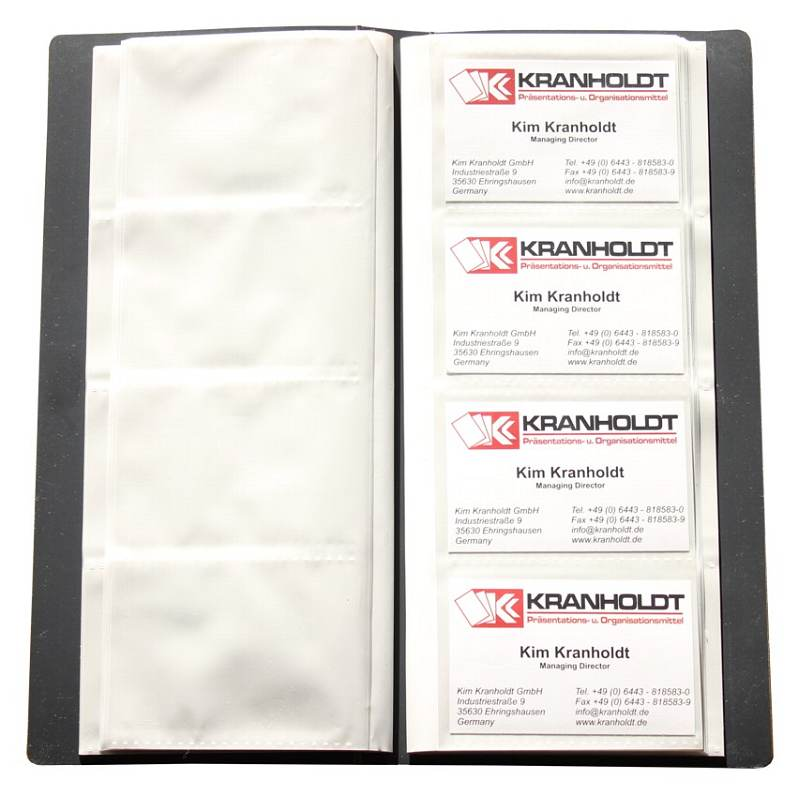 Visitenkartenbuch Für 240 Karten Schwarz