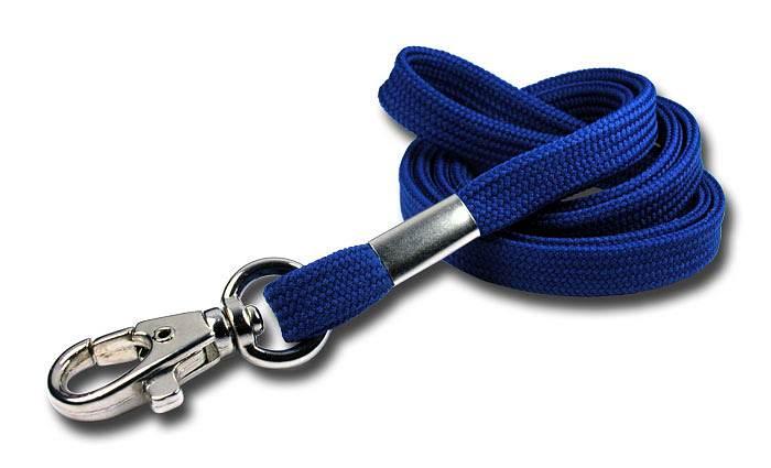 Schlüsselanhänger mit Karabinerhaken blau Farbe